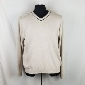 J Crew Mens 100% Cotton V Neck Sweater Sz XL